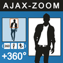 AJAX-ZOOM 360 degree view + mouseover